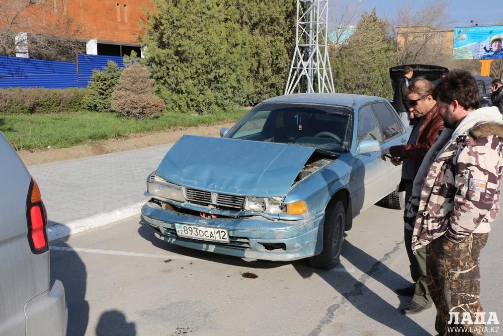 В Актау произошла цепная автомобильная авария