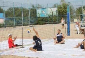 В Актау стартовал чемпионат РК и международный турнир по пляжному волейболу среди инвалидов