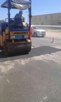 После инцидента с автобусом в Актау кладут новый асфальт