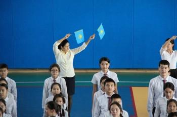 3 тысячи учеников НИШ страны выступили с флеш-мобами