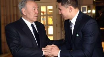 Назарбаев поздравил Головкина с получением статуса посла EXPO-2017