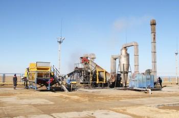 На месторождении Жетыбай в Мангыстау запущена установка по очистке замазученного грунта