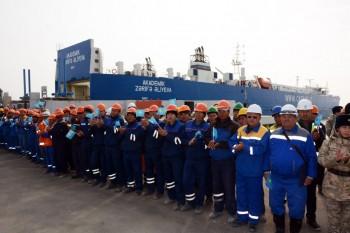 Первая миллионная тонна грузов отправлена через порт Курык