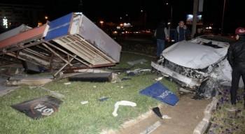 Автоледи снесла электронные часы в центре Актау