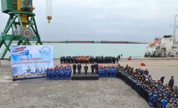Работы по трем причалам по проекту расширения Актауского морского порта практически завершены - М. Ялбачев