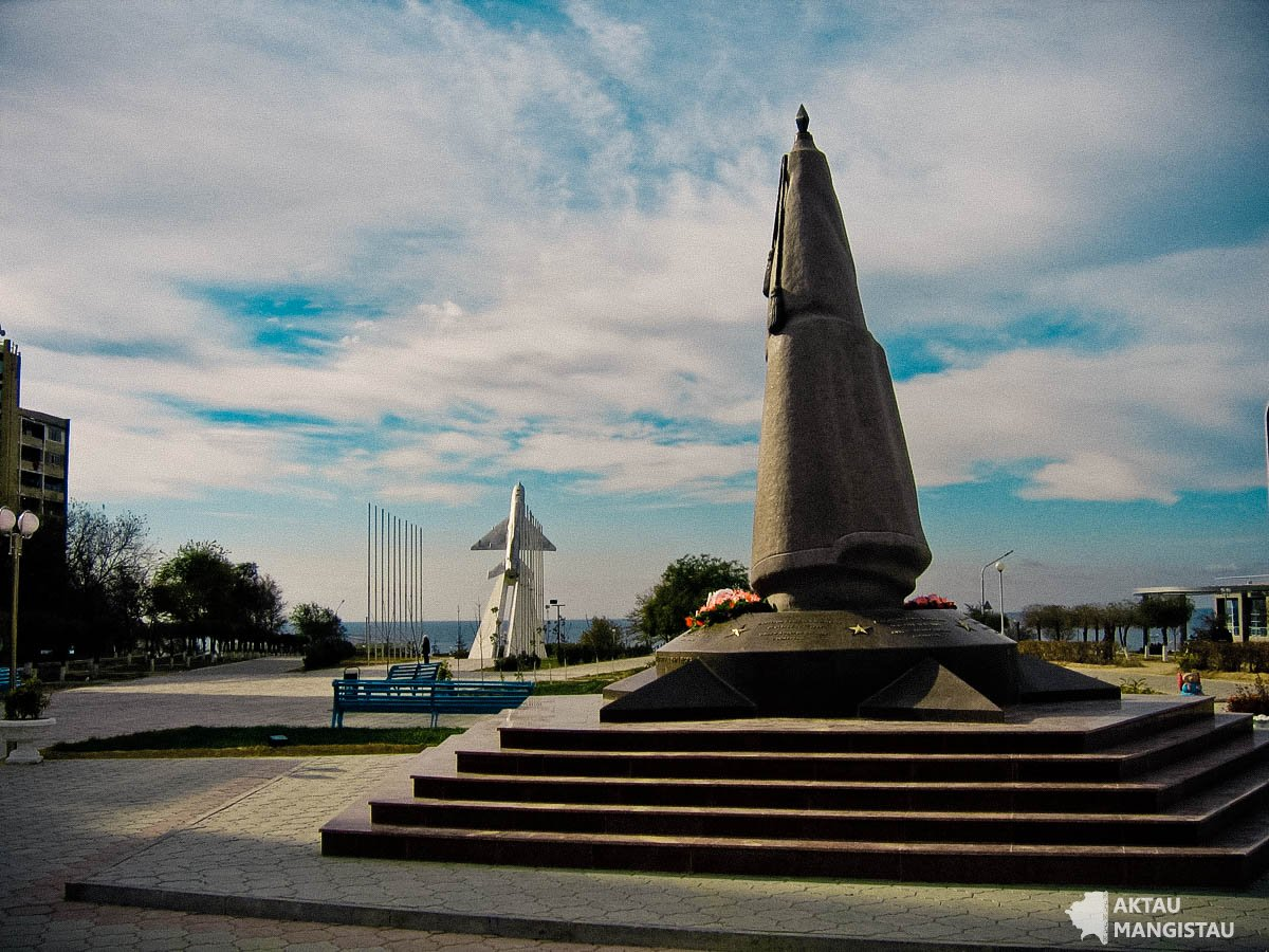 Памятник воинам ветеранам-афганцам.Актау.Мангистау