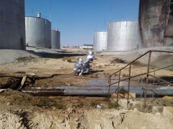 Возгорание на нефтяной базе Жанаозена произошло в ходе ремонтных работ - ДЧС (ФОТО)