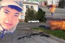 В Таразе нашли снимавших на видео самосожжение парня