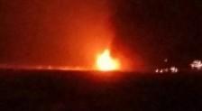 32 нефтяников эвакуировали с горящей платформы на Каспии
