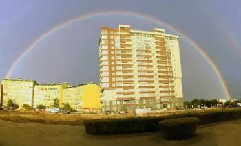 Над Актау поднялась двойная радуга (ФОТО)