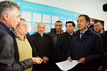 Б.Сагинтаев презентовал в морпорту Актау новую систему прохождения грузов (ФОТО)