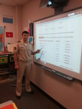 Военнослужащий из Мангистау успешно проходит обучение в Академии ВМС США (ФОТО)